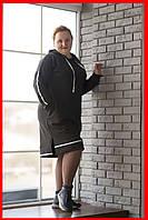 Платье свободное большие размеры черное SWEETY anthracite 48-58