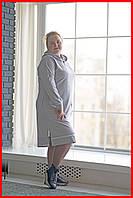 Платье свободное большие размеры серое SWEETY anthracite 48-58