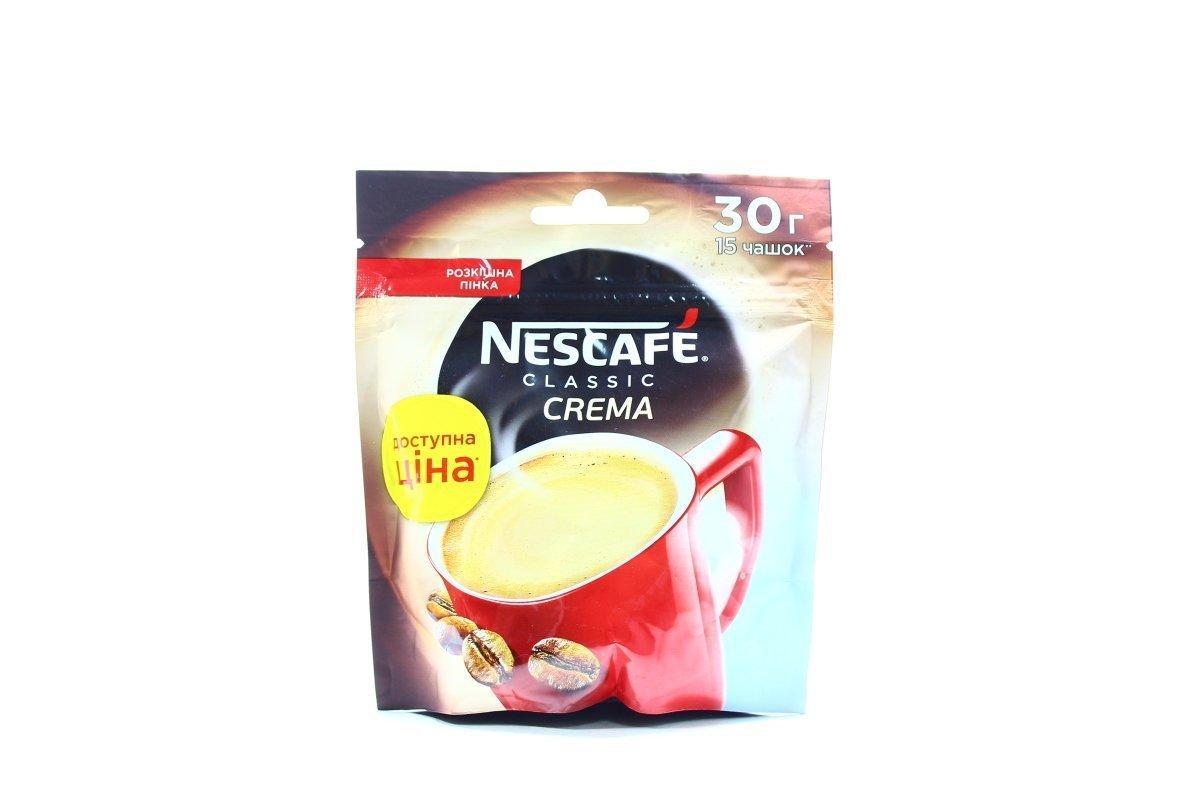 Nescafe Классик Крема кофе растворимый 30 грамм в мягкой упаковке