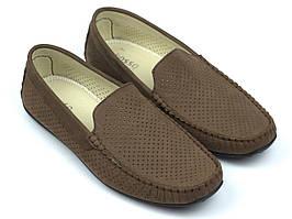 Мокасини чоловічі коричневі нубукові перфорація літнє взуття великих розмірів Rosso Avangard BS M4 Perf Capu