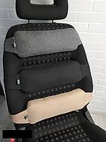 Упор поясничный для спины EKKOSEAT в авто. Черный, серый, бежевый, коричневый, Универсальный.