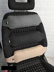 Поперековий Упор для спини EKKOSEAT в авто. Чорний, сірий, бежевий, коричневий, Універсальний.