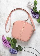 Женская сумочка Алисия, кросбоди, 20*20*8 см, пудровая