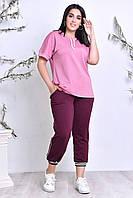 Женский модный спортивный костюм, штанишки- по бокам действующие змейки  Очень удобный,Повседневный вариант.