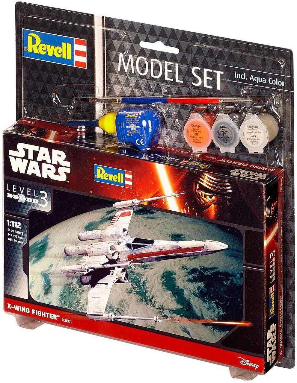 Сборная модель-копия Revell набор Звездный истребитель ARC-170 уровень 3 масштаб 1:83 (RVL-63601)