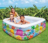 Детский надувной бассейн Intex 57471 Аквариум, 159х159х50 см, объем 344 л