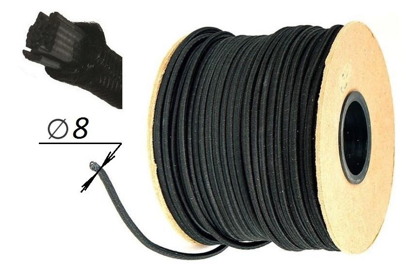 Шнур резинка тента, эластичный (эспандер) Ø 8 мм (Польша)