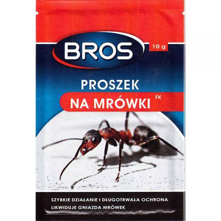 Bros / Брос средство от муравьев (Mrowkofon), 10 г — инсектицидный порошок, фото 2