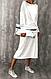 Женское платье ниже колен с длинным рукавом, фото 2