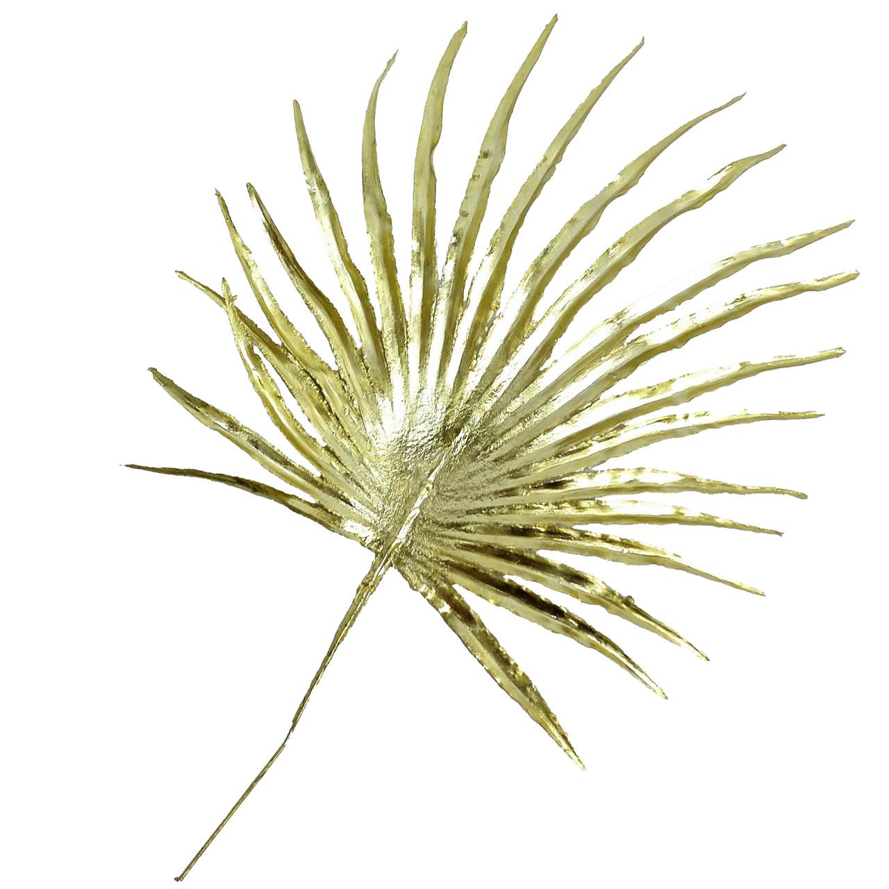 Лист пальмы круглый малый 30 см золотой (20 шт. в уп)