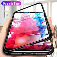 Магнитный чехол для Huawei P Smart Z стекло с двух сторон (3 Цвета)