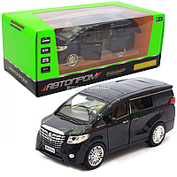 Машинка игровая автопром «Toyota» металл, черная, 20 см, (свет, звук, двери открываются) 7685