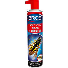 Bros / Брос аэрозоль со спецсоплом от шершней и ос, 300 мл — биоцидное средство