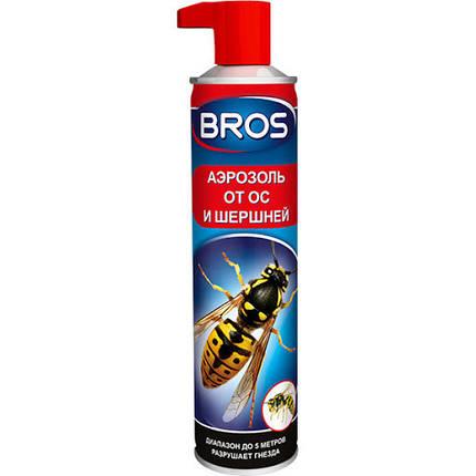 Bros / Брос аэрозоль со спецсоплом от шершней и ос, 300 мл — биоцидное средство, фото 2