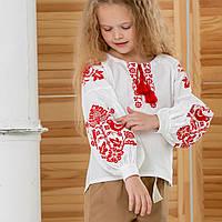"""Вышиванка для девочки в этно стиле """"Соловьи"""", фото 1"""