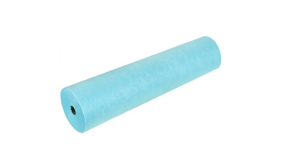 """Одноразовые простыни из спанбонда в рулонах """"Panni Mlada"""" 0,8х100м (20 г/м2) голубые"""