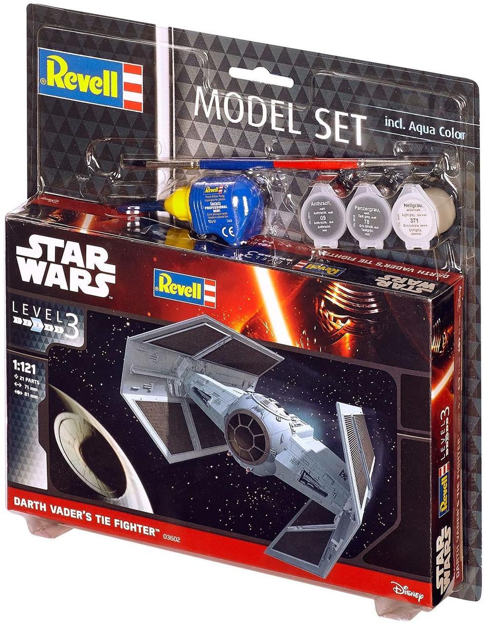 Сборная модель-копия Revell Звездный СИД-истребитель Дарта Вейдера уровень 3 масштаб 1:121 (RVL-63602)