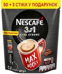Nescafe 3 в 1 Екстра Стронг 53 стіка в м'якій упаковці
