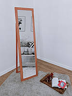 Дзеркало підлогове в дерев'яній рамі HomeDeco Персиковий 150х50