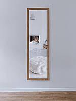 Зеркало настенное в деревянной раме HomeDeco Светло-коричневый 150х50
