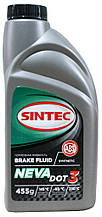 Тормозная жидкость SINTEC НЕВА DOT-3, 0,455л