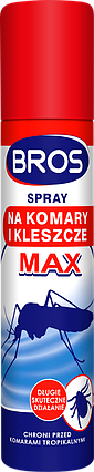 BROS/ БРОС спрей от комаров и клещей MAX, 90 мл — защищает от укусов комаров и клещей, фото 2