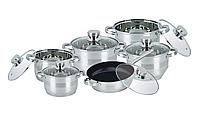Набор посуды из нержавейки Bohmann BH 1275 MRB - 12 пр