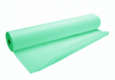 """Одноразовые простыни """"Panni Mlada"""" из спанбонда в рулонах 0,8х500 м (20 г / м2) мятные"""