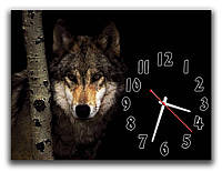 Часы настенные  Волк на охоте  30х40 см