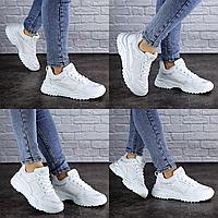 Женские кроссовки летние белые Doby 1938  эко - кожасетка  Размер 41 - 25,5 см по стельке, обувь женская