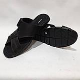 Мужские кожаные шлепки (Больших размеров) 46,47,48,49,50, фото 3