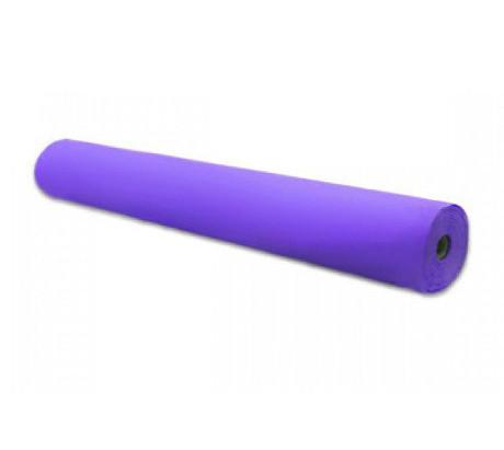 """Одноразовые простыни 0,8м*100м (25 г/м2) """"Doily""""в рулонах, спанбонд, фиолетовые"""