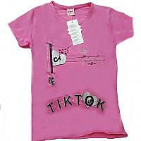 Футболка летняя для девочки.TIK TOK  8-12лет (код 1630-00) BESIWA