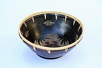 Глубокая миска с оплеткой из ротанга, 18 см, фото 1