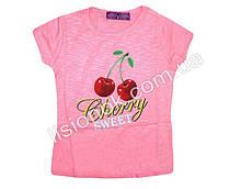 Детская футболка с черешней, Венгрия 98см, Розовый
