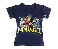 Детская футболка Ниндзяго (Ninjago) Турция 2-3 года 2 года, Темно-синий