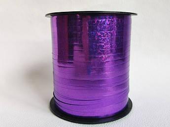 Лента полипропиленовая для упаковки подарков, фиолетовая голограмма, 250 м.