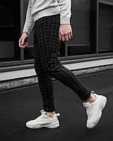 Чоловічі брюки в клітку, 2 кольори S M L XL | мужские повседневные класические штаны в клетку 46 48 50 52