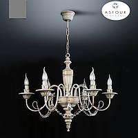 Люстра 6-ти ламповая с хрусталем для спальни, зала, гостиной в классическом стиле 18006