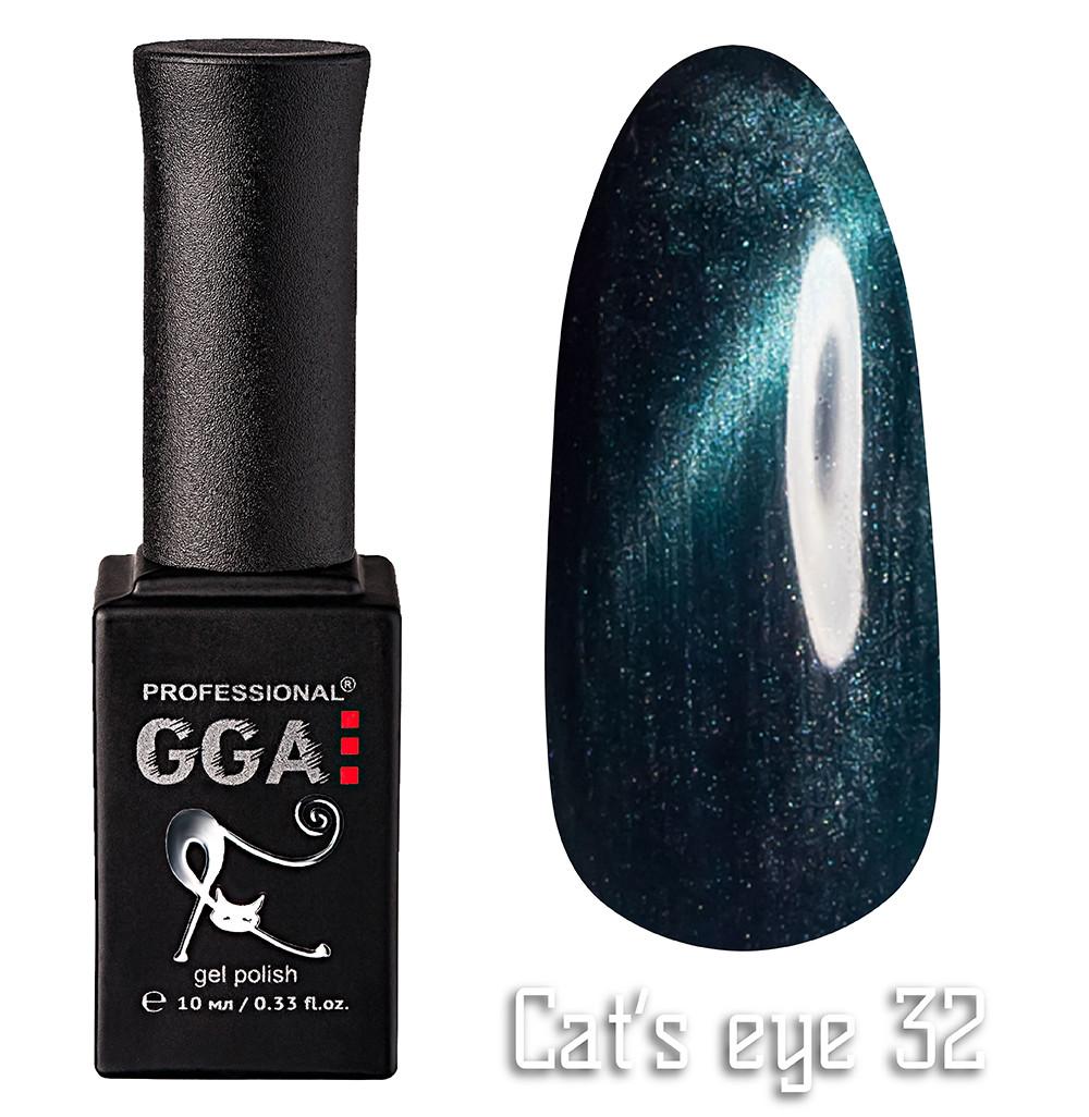 """Гель-лак """"Кошачий глаз"""", GGA,  10 мл, № 32"""