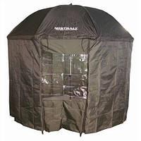 Зонт палатка для рыбалки окно MHZ SF23775 диаметр 2.5 м Хаки (005838)