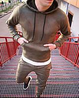Мужской спортивный костюм замш, фото 1