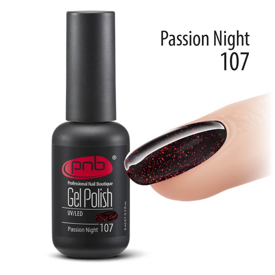 Гель-лак PNB 107 Passion Night, 8 мл