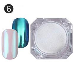 Зеркальная пудра для ногтей, 2 гр, перламутр с бирюзой