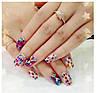 Ромбики для дизайну нігтів. Колір: срібло, фото 2