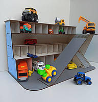 Детский гараж для машинок, многоуровневый Паркинг-гараж, деревянная парковка для машинок