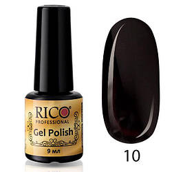 Гель-лак Rico Professional № 10,Черный, эмаль, 9 мл