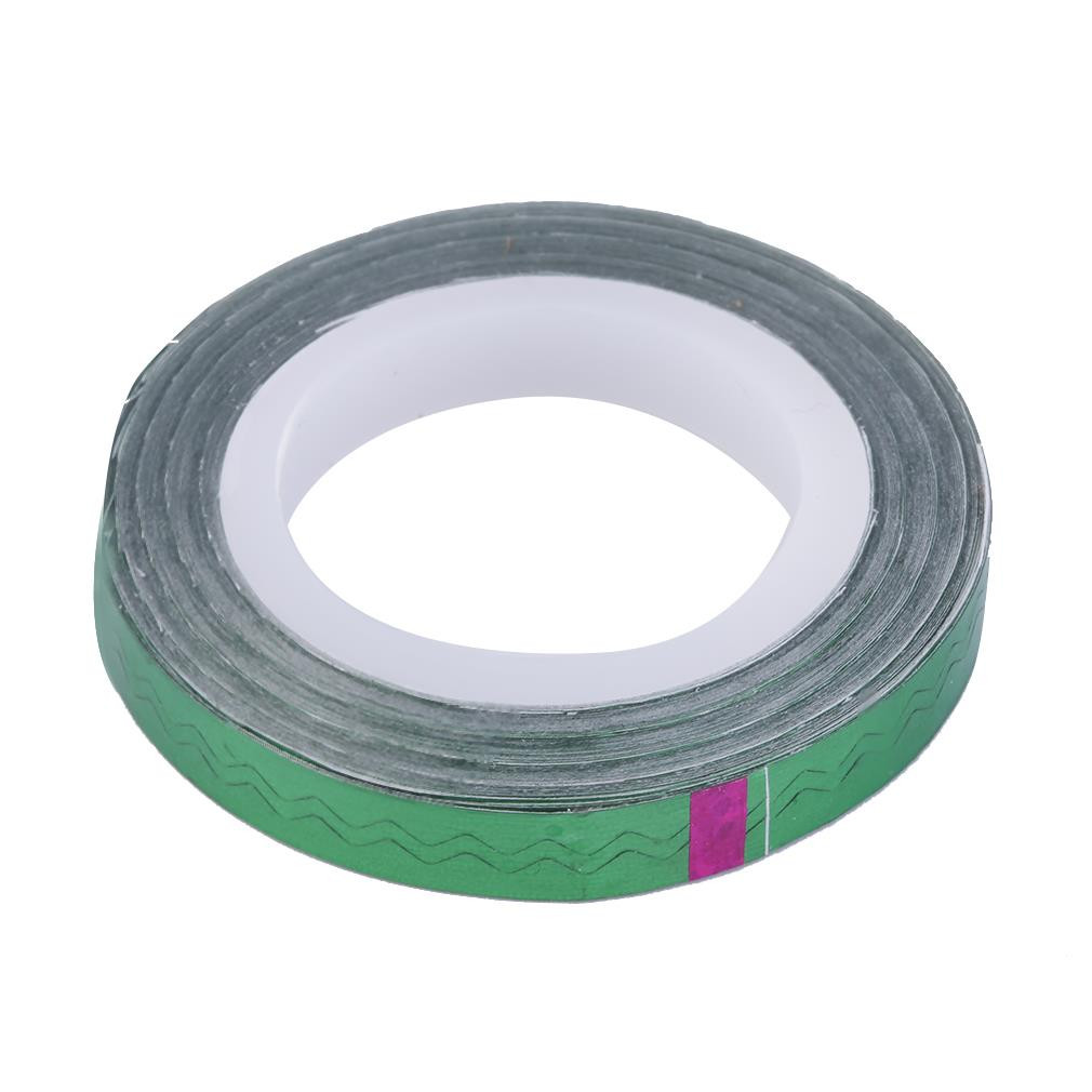 Лента для дизайна ногтей, зеленый голографик, 20 м
