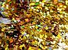 Ромбики для дизайну нігтів, Золотий голографик, 1 000 шт, фото 4