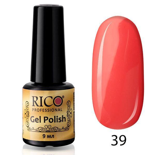 Гель-лак Rico Professional № 39, Коралловый, эмаль, 9 мл